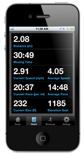 iPhone, Android, Blackberry, GPX and Garmin workout tracking apps